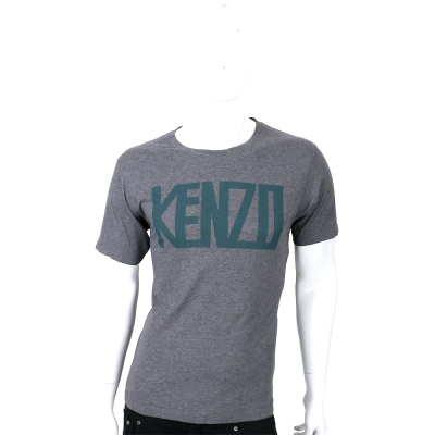 KENZO 灰色字母LOGO短袖T恤