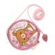 拉拉熊紅粉愛心系列透明防水長掛繩零錢包