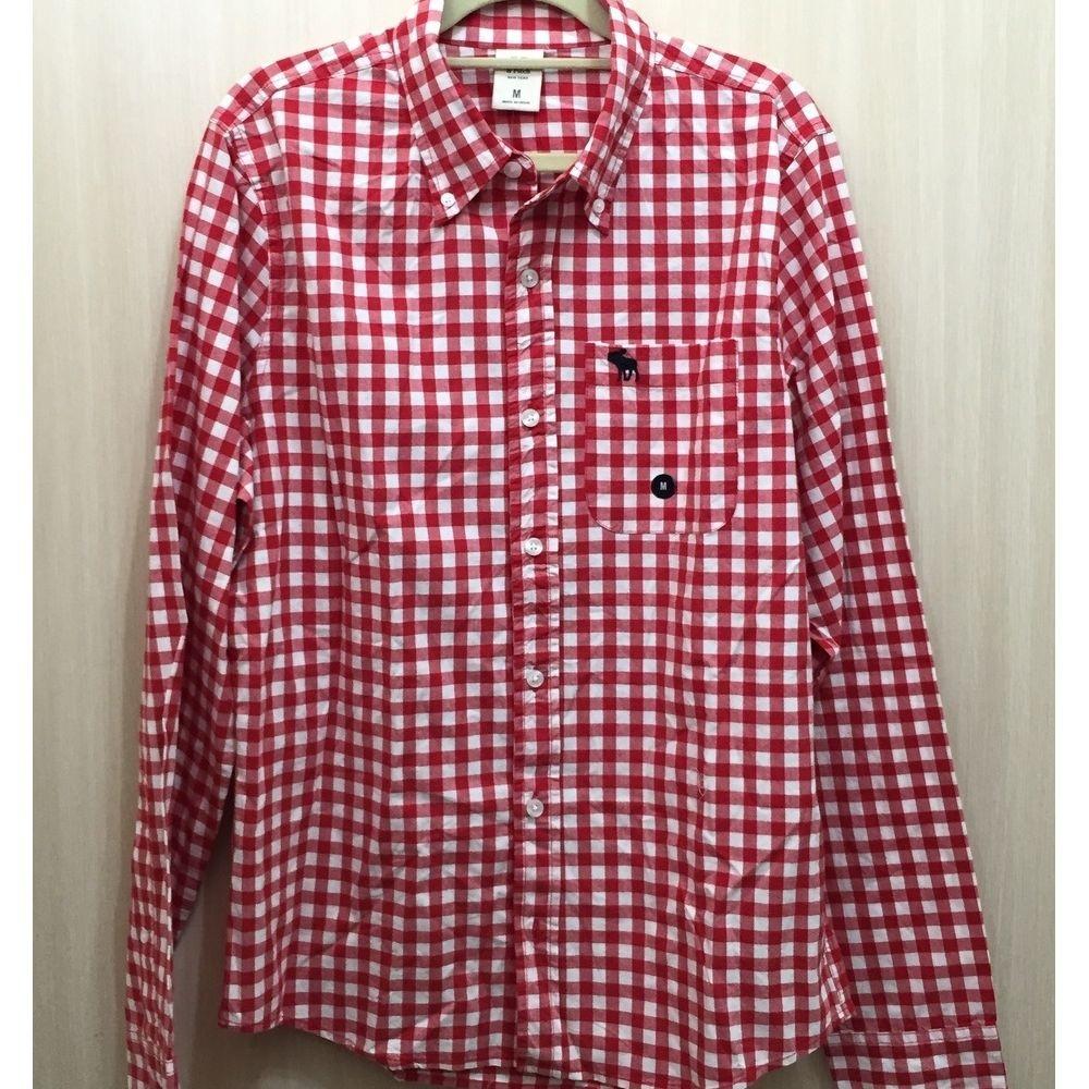 AF a&f Abercrombie & Fitch 長袖 襯衫 紅色 273