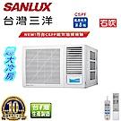台灣三洋SANLUX 11-15坪窗型變頻冷氣右吹SA-R72G