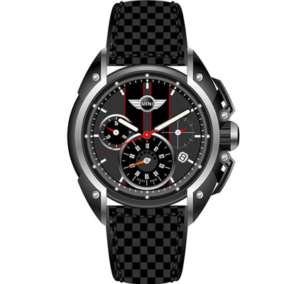 MINI Swiss Watches 極速時尚腕錶-灰/45mm
