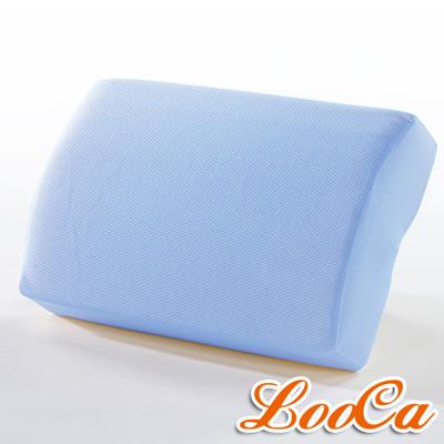 LooCa 吸濕排汗釋壓午安枕(粉藍)