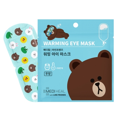 MEDIHEAL LINE FRIENDS熊大熱感舒緩眼罩(無香味)10片/盒