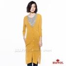 BRAPPERS 女款 V領長針織罩衫-芥黃