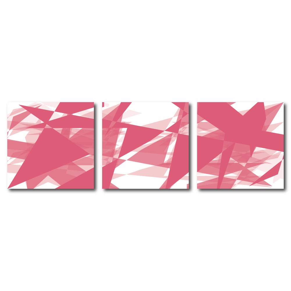 123點點貼- 三聯式無痕創意壁貼 -復刻歲秋30*30cm
