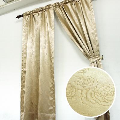 布安於室-薔薇壓紋3明治遮光窗簾-7色款
