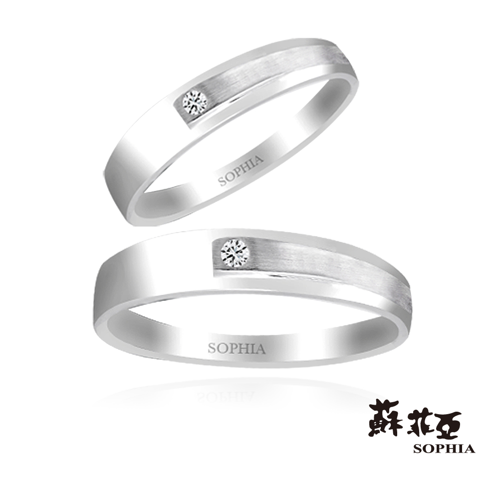 蘇菲亞SOPHIA 結婚戒-摩登時代系列二男女鑽石對戒