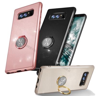 Samsung Galaxy Note8 奢華皮革指環扣手機殼
