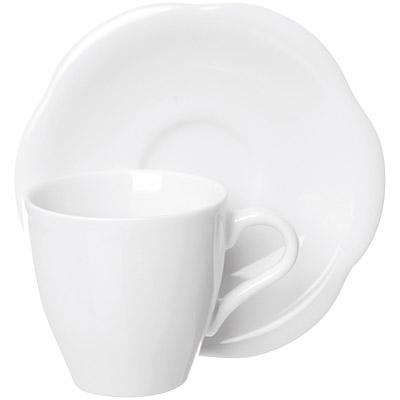 EXCELSA Orion瓷製咖啡杯碟組(白80ml)