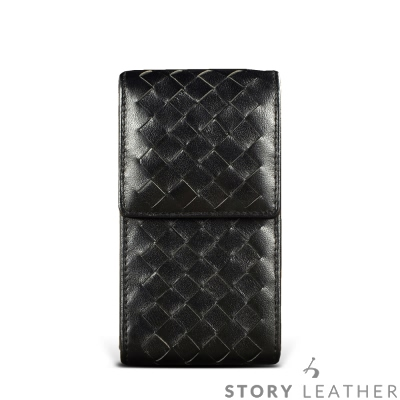 STORYLEATHER iPhone X 直式編織紋 客製化皮套