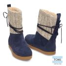 TOMS 針織雪靴-女款(藍)