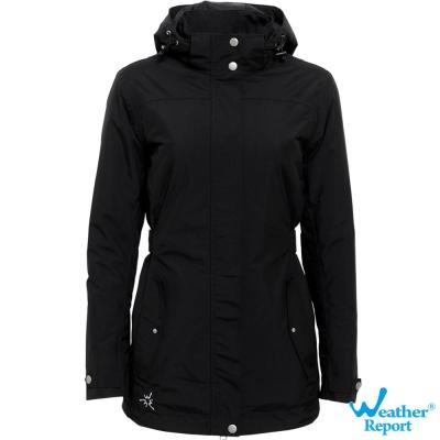 北歐Weather Report AIRTECH防水透濕保暖鋪棉外套-女款(黑)