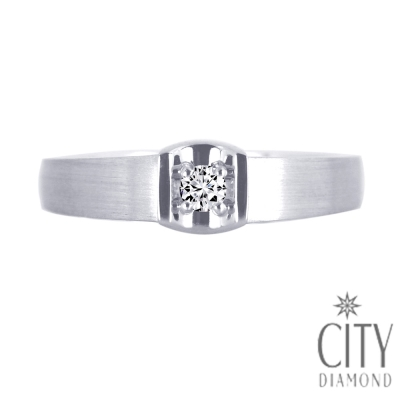 City Diamond引雅【Vintage系列】-6分造型鑽石戒指-DR29042