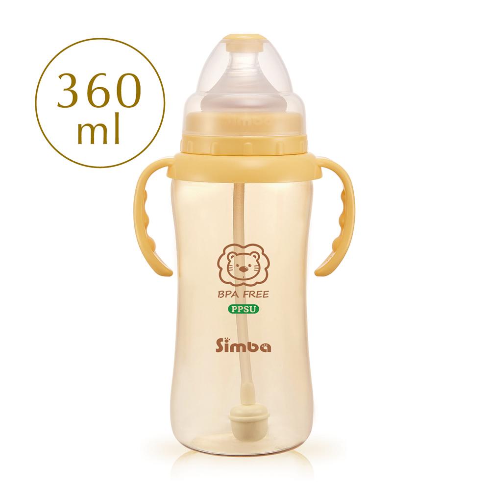 小獅王辛巴 PPSU自動把手寬口葫蘆大奶瓶(360ml)