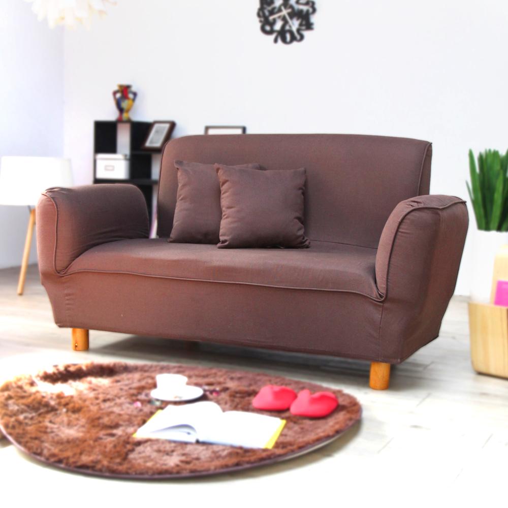 H&D 貴妃多功用雙人布沙發-咖啡色