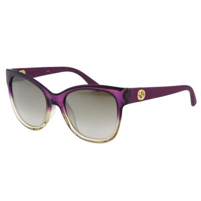 GUCCI~水銀反光鏡片 太陽眼鏡 漸層紫色