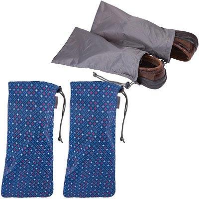 TRAVELON 鞋子收納袋2對(鑽石藍)