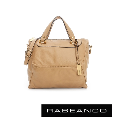 RABEANCO-OL-時尚粉領系列菱形包-中-淺駝