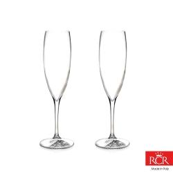 義大利RCR胡哥風情無鉛水晶香檳杯(2入)240cc