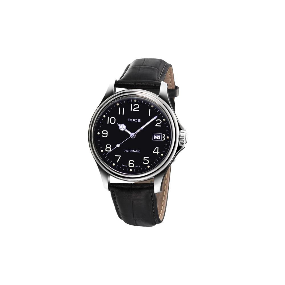 epos 復刻玩家夜光機械腕錶-黑/41mm