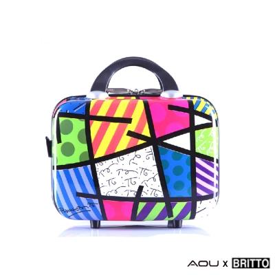 AOU & BRITTO 化妝箱 旅行箱 時尚潮流連線 (幾何) 97-001-D2