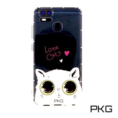 PKG ASUS ZenFone3 Zoom空壓氣墊保護殼(時尚彩繪)娃娃貓