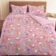 三麗鷗 55週年太空風系列-雙人四件式床包薄被套組(粉)(藍紫)