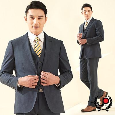 極品西服-低調品味仿毛小劍領西裝_藍色(AS635-3G)