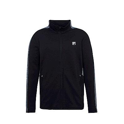FILA 男抗UV吸濕排汗針織外套-黑 1JKS-1305-BK