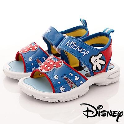 迪士尼童鞋 米奇星星涼鞋款 FO63801藍(中小童段)C