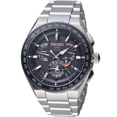 SEIKO精工 ASTRON GPS雙時區鈦金屬錶(8X53-0AV0D)-46.1mm