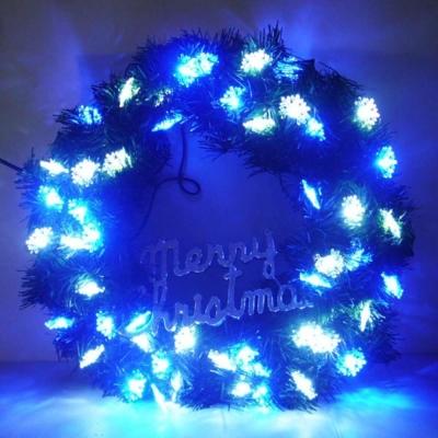 20吋LED雪花燈花圈(藍白光-含IC控制器可變換閃爍方式)