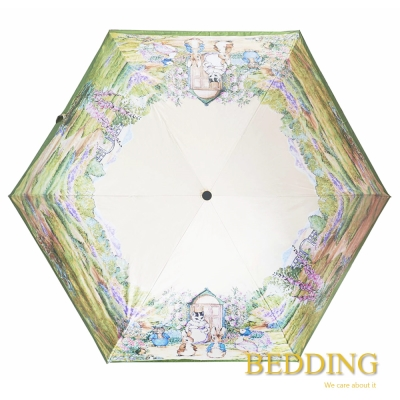 BEDDING 比得兔黑膠 抗UV自動摺疊傘 世界