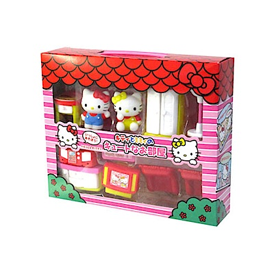 Sanrio HELLO KITTY與MIMMY迷你房間家家酒玩具組