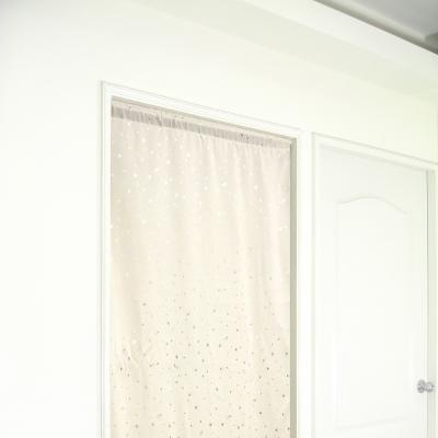 布安於室-銀色星空遮光門簾-米色-寬100x高130cm