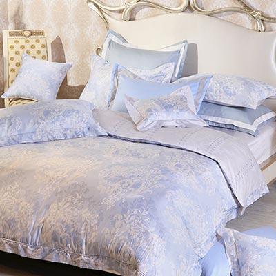 義大利La Belle 絢藍之光 單人三件式純棉被套床包組MIT