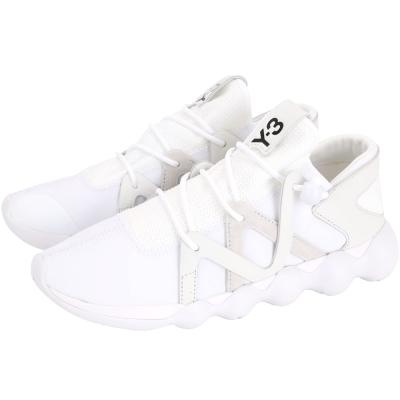 Y-3 KYUJO LOW 拼接設計綁帶運動鞋(白色)
