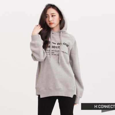 H-CONNECT-韓國品牌-女裝-設計下擺印字帽