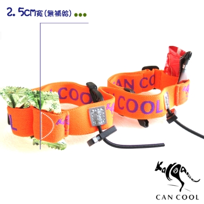 CAN COOL敢酷 25mm寬-能量補給運動號碼帶(橘紫) C160323005