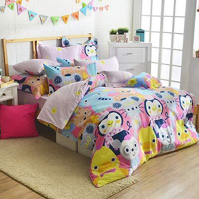 義大利Fancy Belle 童話王國 雙人四件式防蹣抗菌舖棉兩用被床包組