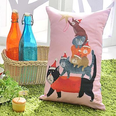 義大利Fancy Belle X DreamfulCat 貓貓疊疊樂 數位午安抱枕