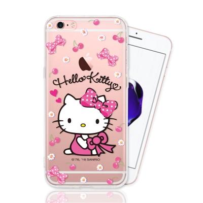 HELLO KITTY iphone 6s Plus 彩繪空壓手機殼-櫻桃