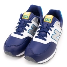 24H-New Balance-中大童鞋KL574BWY-藍白