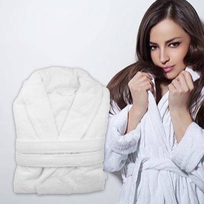 法式寢飾花季 純品良織-五星飯店款100%純棉舒柔保暖歐式浴袍