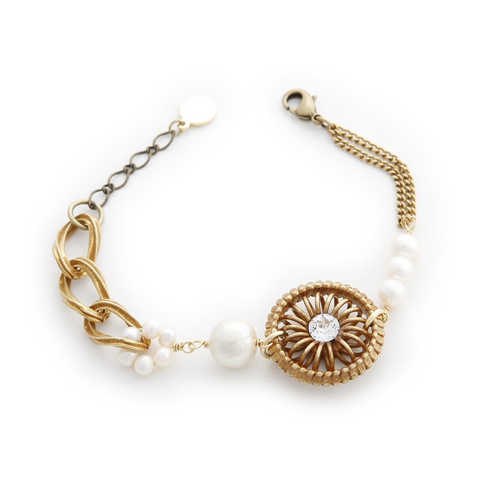 Luce Costante Ronde系列珍珠圓輪手鍊