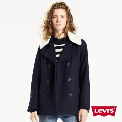 女裝 大衣 雙排扣 可拆式毛領 - Levis