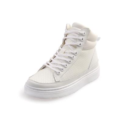 Dr.Martens LAMAR-厚底綁帶短筒球鞋-女款-白色