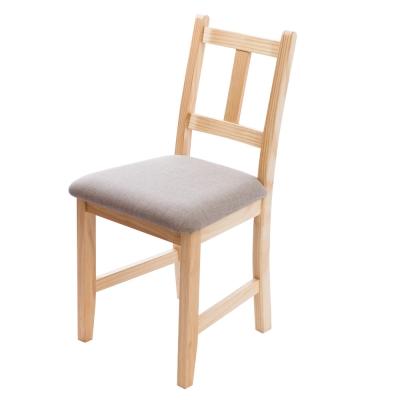 CiS自然行實木家具- 南法實木書椅(扁柏自然色)淺灰色椅墊