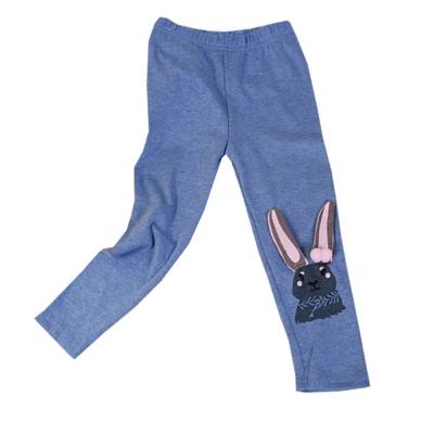 長耳兔保暖修身內搭長褲 藍 k60287 魔法Baby