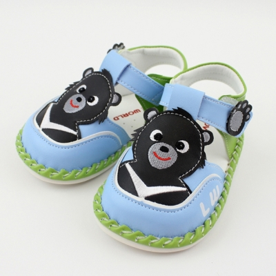 愛的世界 黑熊寶寶鞋/學步鞋-台灣製-